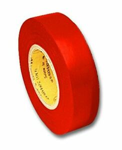 Electrical Tape Red 66 Foot Roll 3 4 Inch Wide Ul510 Csa 5pack