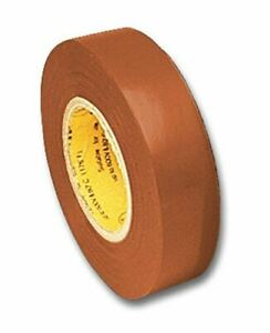 Electrical Tape Brown 66 Foot Roll 3 4 Inch Wide Ul510 Csa 5pack