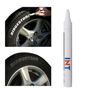 1 Waterproof Car Tyre Tire Tread Rubber Paint Pen Markers Pen Permanent White