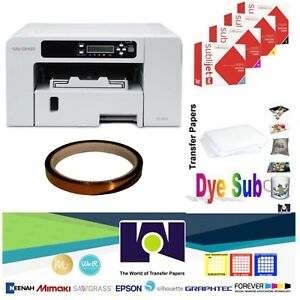 Sublimation Printer Sg400 Hd Ink Set Cmyk 1 Sublitape 100 Sh Sublipaper