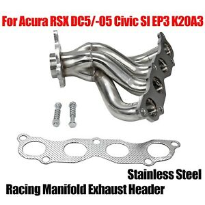 Ss Racing Manifold Exhaust Header Fits Acura Rsx Dc5 05 Civic Si Ep3 K20a3 4 1