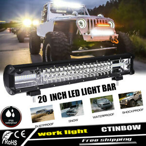 20 Inch 540w Led Work Light Bar Flood Spot Combo Driving Lamp Offroad Car Truck