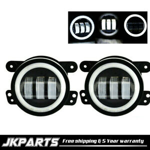 2005 2010 Jeep Grand Cherokee Clear Halo Projector Fog Lights Bumper Lamps Pair