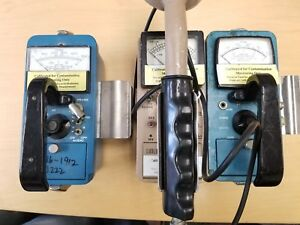 Lot Of X3 Ludlum Model 2 Radiation Survey Meter Vwr Gsm 10s