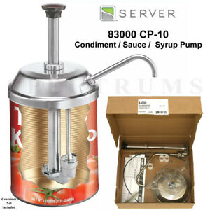 Server 83000 Cp 10 Stainless Steel Condiment Sauce Syrup Dispenser Pump