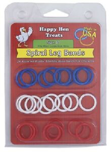 Happy Hen 52 Count Size 11 Spiral Leg Bands