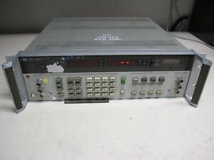 Agilent Hp 8903a Audio Analyzer 20hz To 100khz