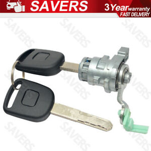 New Left Driver Side Door Lock Cylinder W 2 Key For Accord 4 Door 72181 Sda A11