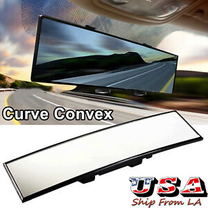 New Jdm 300mm Wide Curve Interior Clip On Rear View Mirror Extender Universal