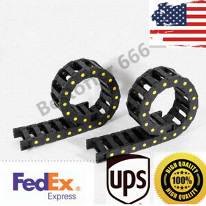 2pc 1m Cnc Cable Drag Chain Wire Carrier Drag Track Chain Plastic Nylon Pa66 Usa