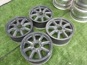 Jdm Br Black Racing 15 Wheels Pcd114 3x5 Watanabe Rims Rs For Datsun S130 Z31
