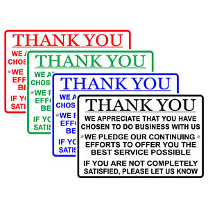 Thank You For Your Business We Pledge To Offer Best Service Aluminum Metal Sign