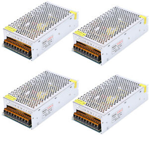 Lot 4 X 12v 25a 300w Led Driver Dc Power Supply Transformer For Led Light Strip