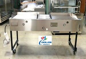 New 66 Taco Carts hot Dog Burger Fries comal Commercial Model G24w1g24 Catering