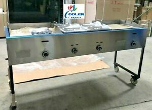 New 79 Taco Griddle Carts Food Hot Dogs Hamburgers Fries optional Deep Fryer