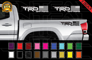 Trd American Flag Off Road Usa Decal Toyota Tacoma Tundra Vinyl Sticker X2