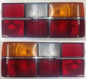 Volvo 740 760 Sedan Tail Light Pair Chrome Molding 1984 89 Made In Europe