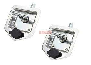 2 Pack T handle Tool Box Lock Rv Door Latch With Two Keys Stainless Steel Poli