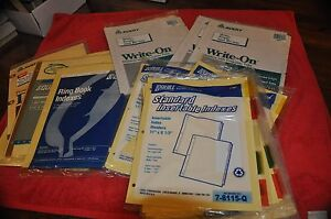 Lot 15 Sets Quill Avery Standard Ring Binder Index Dividers Insertable 11 By 8 5