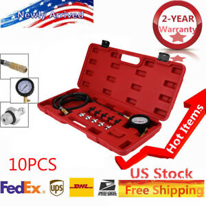13pc Deluxe Automatic Transmission Engine Oil Pressure Tester Case 140psi As