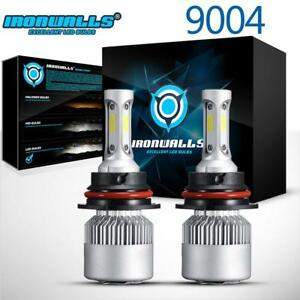 2pcs 9004 Hb1 Led Headlight Bulbs High Low Dual Beam For Ford Mustang 1990 1993