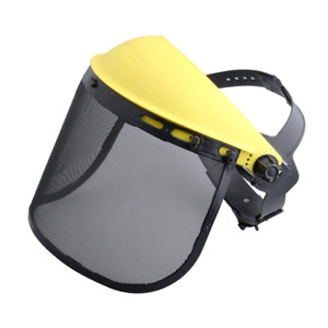 Safety Face Shield With Mesh Visor For Chainsaw Trimmer Pole Pruner