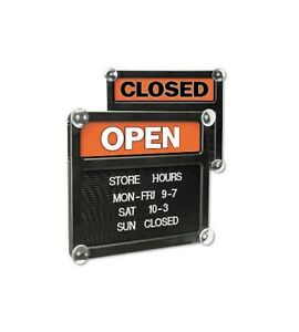 New Open Closed Sliding Sign Message Board Changeable Letter Free Shipping