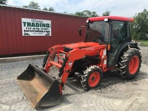 2007 Kubota L3430hstc Compact Tractor With Cab And Loader