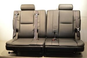 07 13 Tahoe Suburban Yukon Third Row Seats 3rd oem black Perf leather Nice