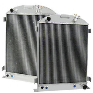 3row All Aluminum Radiator For 1933 1934 Ford grill shells Chevy V8 engine 33 34