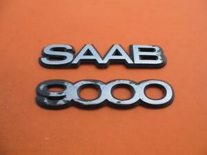 93 94 95 96 97 98 Saab 9000 Rear Trunk Gate Lid Emblem Logo Badge Sign Oem Set