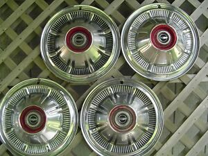 1966 77 Ford Bronco Pickup Truck Van Galaxie Hubcaps Wheel Covers Center Caps