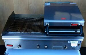 Awesome Lang 248zt Chrome 48 Gas Grooved Griddle With 24 Gas Clamshell Csg24