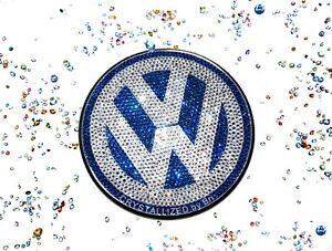 Rear Crystallized Emblem For Vw Beetle 98 05 Badge Bling W swarovski Crystal