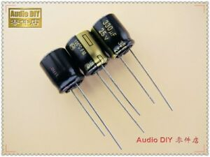 10pcs Panasonic Fm Series 330uf 25v Ultra Low Internal Resistance Capacitor