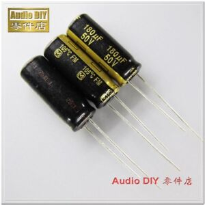 10pcs Panasonic Fm Series 180uf 50v Ultra Low Internal Resistance Capacitor