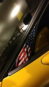 C5 Corvette American Flag A Pillar Decals Made In Usa