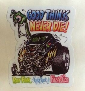 Rat Rod Hot Rod Street Rod Sticker Chopper Good Things Rat Fink Racing Oil