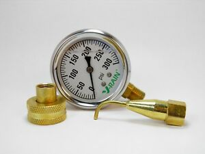 Complete Psi Check Kit At The Faucet And The Sprinkler Gauge N Pitot Tube