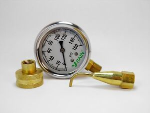 Complete Psi Check Kit At The Faucet Or The Sprinkler Gauge N Pitot Tube 160psi