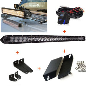 20 Inch Led Light Bar Metal Hood Mount Bracket Kit For 07 16 Jeep Jk Wrangler