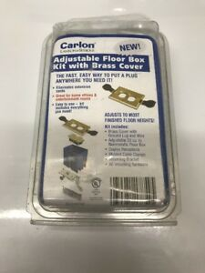 Carlon B121bfbb Adjustable Floor Box Kit With Brass Cover Free Shipping