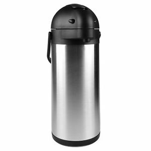 3 0 Liter Lined Urn Airpot Carafe Pump Stainless Steel Dispenser Hot Coffee Tea