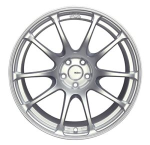 Set Of 4 18 Miro 563 Full Silver Staggered Wheels 5x100
