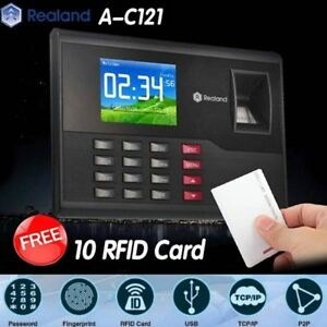 Realand A c121 Biometric Fingerprint Time Attendance Clock Tcp ip Usb Free Cards