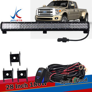 Dot Led Work Light Bar For Ford Truck Suv 4x4 Jeep Truck Driving Lamp Bumper