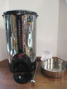 Coffee Pro Pot Cp100 Stainless Steel Commercial Percolator Urn 100 Cup Msrp 212