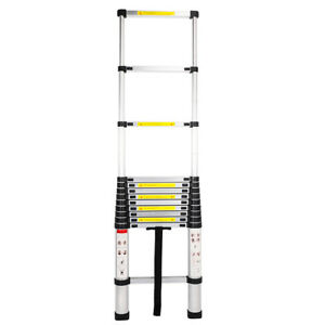 12 5ft Flexible Telescopic Aluminum Extension Ladder Steps heavy Duty Tool