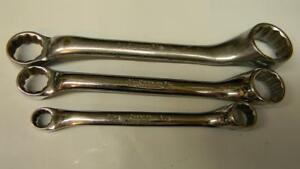 Snap on 3pc Sae 10 Offset 12pt Short Box Wrenches
