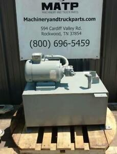 Wastequip Baldor Hydraulic Power Unit 15hp 3 phase 15gpm 2000psi Eaton Pump